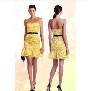 BCBG Sexy YELLOW STRAPLESS DRESS size 6
